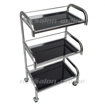 black glass salon hairdresser hairdressers trolley