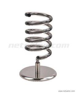 chrome salon desktop hairdryer holder