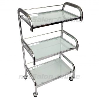 white glass salon hairdresser hairdressers trolley